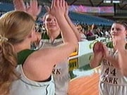 Shadle celebrates a second-place finish at the state tournament in Tacoma.  The Highlanders lost 50-43 in the title game.