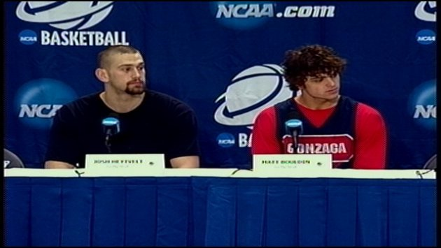 Josh Heytvelt (left) and Matt Bouldin (right) answered reporters' questions in Memphis on Thursday.