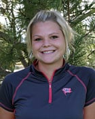 Krystal Pitkonen (pictured) and Liz Martin have led the Pirates in scoring this year with a scoring average of 88.56 (Photo: Whitworth Athletics)