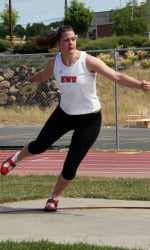 Bonnie Bercheid is the two-time defending discus champion and will look for a third title as a senior. (Photo: EWU Athletics)