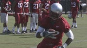 WSU opened fall practice on Sunday with a helmets-only practice (Photo: SWX)