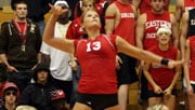 EWU's Hayley Hills recorded a match-high 40 attacks against Gonzaga (Photo: EWU Athletics)