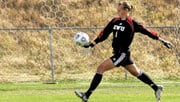 Goalkeeper Lisa Dimak saved a penalty kick at the 77:29 mark to secure a 1-0 victory over Weber State (Photo: EWU Athletics)