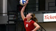 EWU's Chenoa Koviare had 12 blocks, the most by any Eastern player since 2002 (Photo: EWU Athletics)