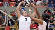 Against Weber State, Ashley Hamilton had kills on all 12 of her attacks (Photo: EWU Athletics)