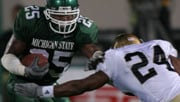 Jason Harmon, who played college football at Michigan St., spent two seasons with the Colorado Crush in the AFL (Photo: Michigan St. Athletics)
