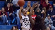 Mead's Jazmine Redmon scored 19 in the Panthers win over University (Photo: SWX)