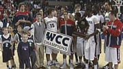Gonzaga celebrated another WCC regular season title after beating San Francisco on Saturday (Photo: SWX)