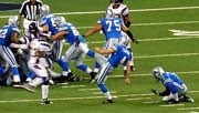 Jason Hanson game winning field goal in a Lion's game vs. Vikings (Photo: Wikipedia)