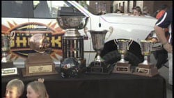 The Shock's AFL championship trophy added to the team's growing collection of honors (Photo: SWX)