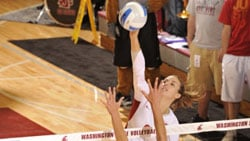 Meagan Ganzer had 30 kills in the Cougars' win over Gonzaga (Photo: WSU Athletics)