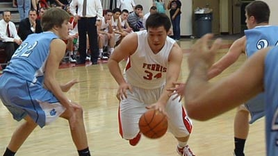 Ferris' Taylor Kamitomo led the Saxons with 21 points (Photo: SWX)