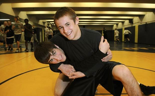 Mead wrestlers Jordan Rogers (left) and Jeremy Golding should be contenders to win state this year.  (Photo: Dan Pelle / The Spokesman-Review)