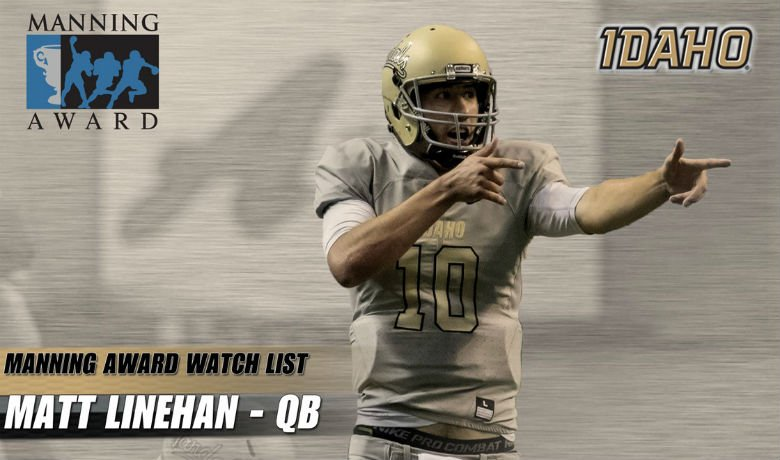 Vandals QB Linehan named to Manning Award watch list