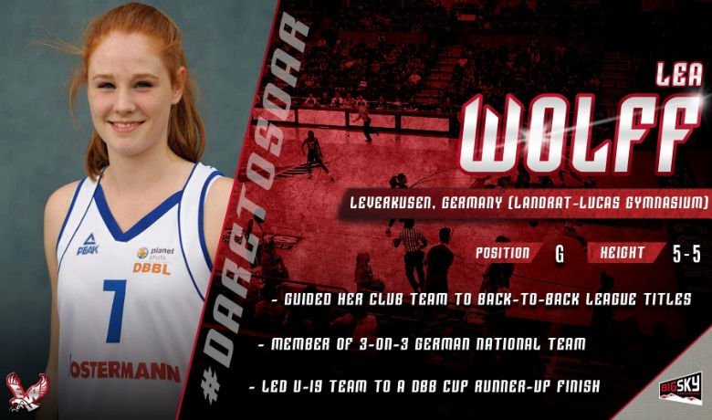 Wolff is a 5'7 guard from Germany. Photo: EWU Athletics