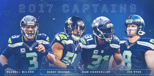 Russell Wilson named captain for 5th straight year. Photo: Seattle Seahawks
