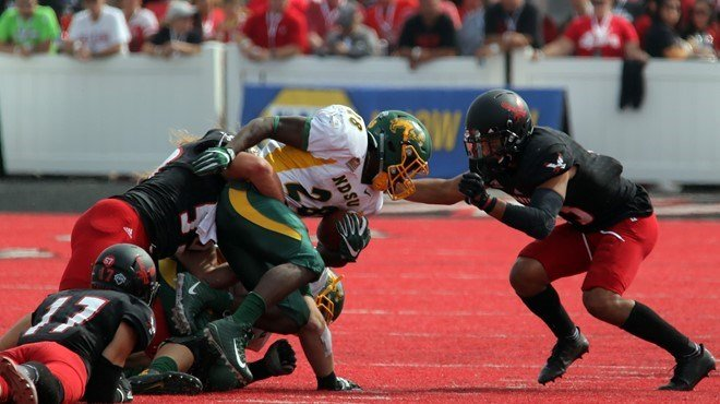NDSU ran for 375 yards in their win over EWU. Photo: EWU Athletics