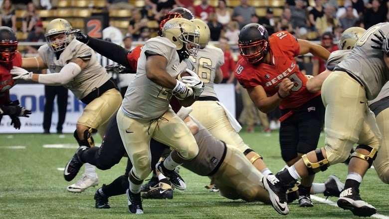 Rebels get 550 yards of total offense in win against Vandals. Photo: Idaho Athletics