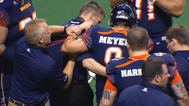 © Shock quarterback Erik Meyer was named the starter for Saturday's game at Arizona (Photo: SWX)