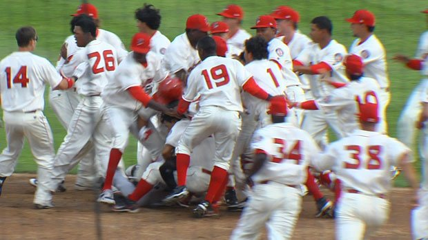 Four Spokane Indians and two Vancouver Canadians were ejected from Monday's game after a bench-clearing fight at Avista Stadium (Photo: SWX)