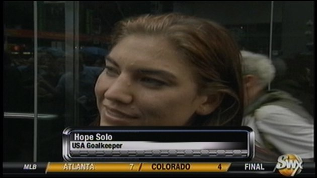 Hope Solo said she wants another shot at the World Cup title in four years.