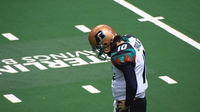 Rattlers quarterback Nick Davila played for the Spokane Shock in the af2 before making his way to Arizona (Photo: SWX)