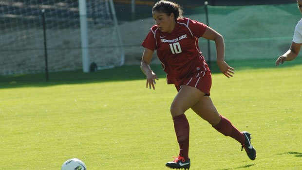 Eileen Maes scored three goals in the second half against Hawaii (Photo: FILE / WSU Athletics)