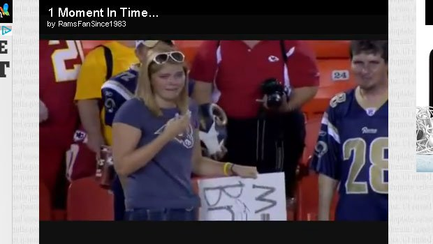 A young Rams fan got the autograph of a lifetime from Sam Bradford (YouTube)