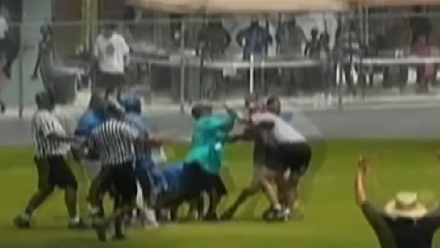 Amateur video shows coaches going after officials at a youth football game in Florida (YouTube)