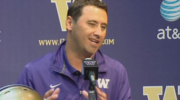 UW head coach got technical with reporters this week, explaining how EWU lit up the Husky defense for 473 yards in passing last weekend (Courtesy: KING)