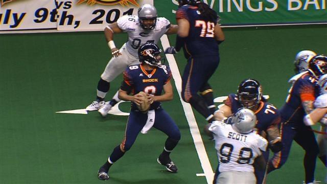 © Former EWU and Spokane Shock quarterback Erik Meyer said on Monday he intends to return to play for Spokane next year (Photo: SWX)