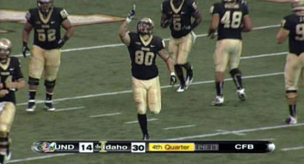 Idaho caught fire in the second half and pulled away from North Dakota to win 44-14.