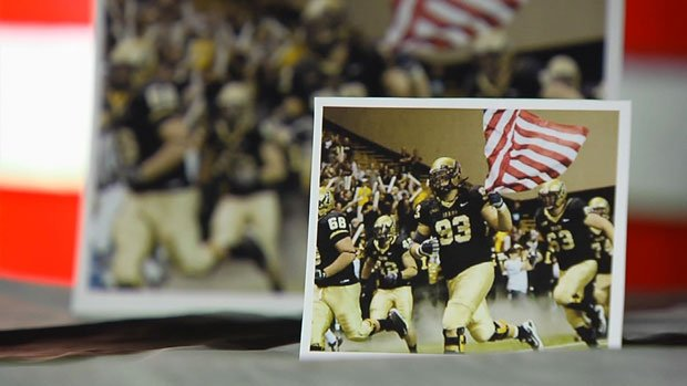 The flag flies in front of the Idaho Vandals every time they take the field (Photo: SWX)