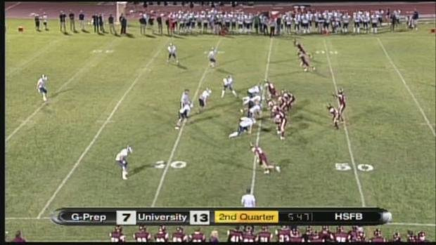 University beat Gonzaga Prep 35-14 for their first win of the season (SWX)
