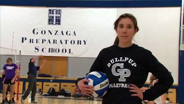 Christina Santorsola is the star on the Bullpups' volleyball team while maintaining a 3.8 GPA in the classroom (Photo: SWX)