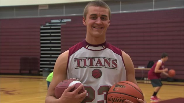 Conner Johnson led the Titans on the football field, plays on the basketball team as well, and has a 3.45 GPA (Photo: SWX)