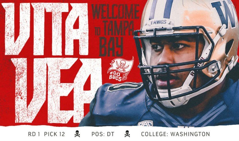 Bucs draft UW DT Vea with 12th pick