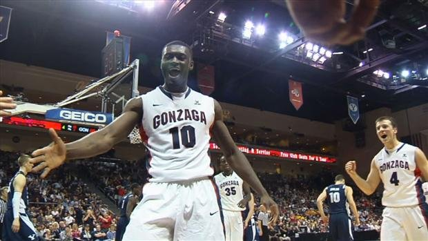 © Guy Landry Edi scored 11 points in the Zags' semifinal win at Orleans Arena (Photo: SWX)