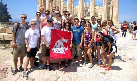 Cougar fans have taken pictures of their school's flag around the world, making it arguably one of the most visible collegiate icons ever (Photo: Brady Blankevoort)