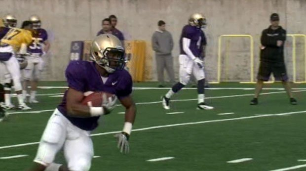 Former Gonzaga Prep standout Bishop Sankey is now a sophomore at Washington and is competing for a starting role.