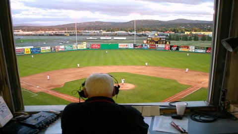 Bob Robertson retired as the full-time announcer for the Indians after the 2010 season but called 20 home games last year (Photo: Spokane Indians)