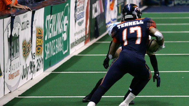© Receiver Adron Tennell and defensive lineman Brandon Sharpe were placed on League Suspension on Tuesday (Photo: SWX)