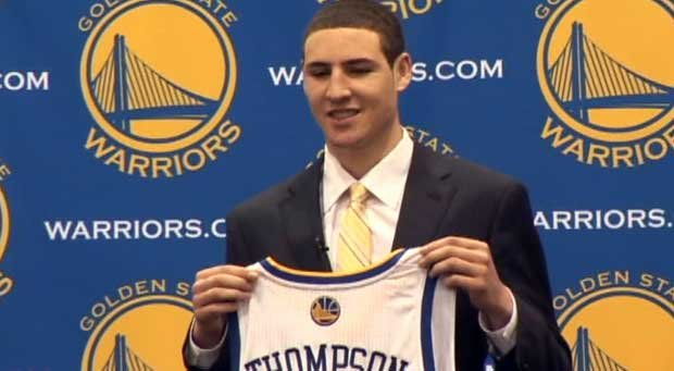 Klay Thompson played his rookie season with the Golden State Warriors this year (Photo: FILE)