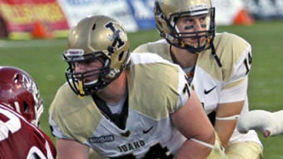 Mike Marboe, from Wenatchee, started all 12 games during his redshirt sophomore season (Photo: Univ. of Idaho Athletics)