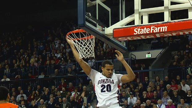 Elias Harris will return for his senior year at Gonzaga, much to the surprise of many who thought he would be in the NBA by now (Photo: SWX)