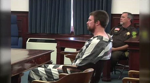 Ryan Leaf appeared before a judge for sentencing in Montana on Tuesday.