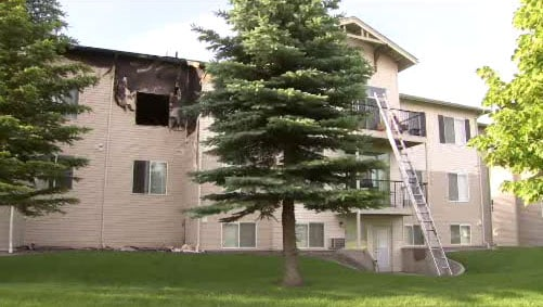 Investigators say Kevin Ellison started a fire at this apartment complex in Liberty Lake because God told him to do it (Photo: KHQ)