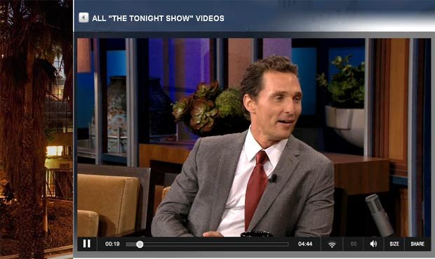 Matthew McConaughey told Jay Leno Mike Leach told he and his new wife to &quot;swing your sword!&quot;