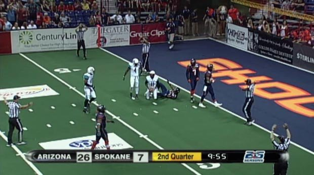 Spokane lost 61-35 to the No. 1 Arizona Rattlers on Saturday (Photo: SWX)
