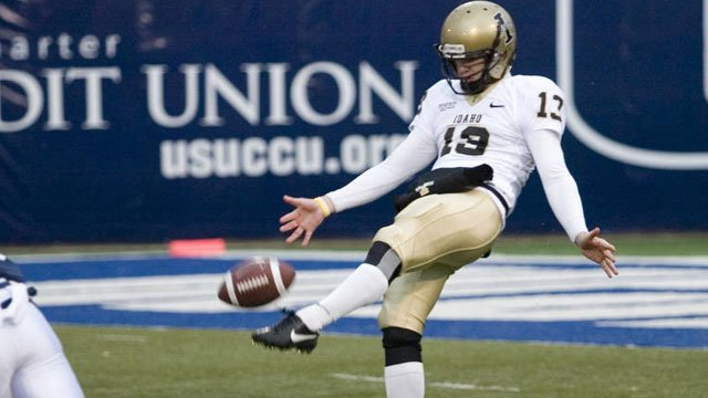 Bobby Cowan was once again named to the Ray Guy Award watch list. He is one of none 2011 finalists on this year's list (Photo: Bruce Mann via Univ. of Idaho Athletics)